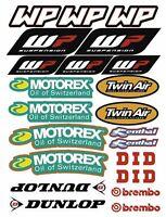 WP Motorex Dunlop DID Shock Fork Sponsor Adesivi Ktm Exc SX Stickers Moto /26