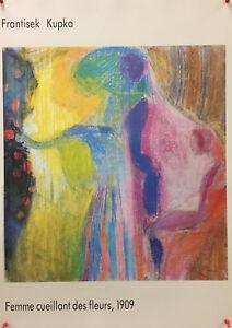 """Frantisek Kupka - """"Femme cueillant des fleurs"""", 1909 - 1989 - Offset/Poster"""