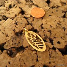 * Steffi * Namensanhänger in 925er Silber vergoldet, Namenskette, Anhänger, NEU