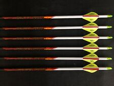 Black Eagle Outlaw White Crested Fletched 350 Arrows 1/2dz BRAND NEW