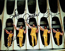Tito Jermain Marlon & Jackie JACKSON Multi Signed Autograph 10x8 Photo AFTAL COA