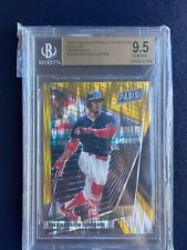 Francisco Lindor 2018 Panini National Convention Gold VIP Prizm BGS 9.5 /10