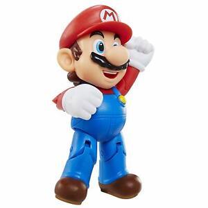 "Super Mario Mario with Question Block 4"" Figure Toy Jakks New Nintendo 2019"
