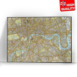 Detailed Map Of London Boroughs Educational Poster Print | A5 A4 A3 A2 A1 |