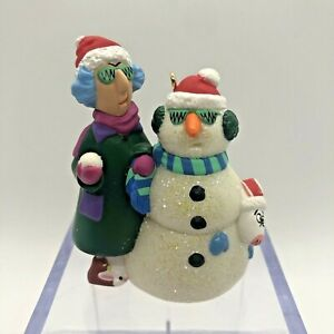 Hallmark Keepsake Self Portrait MAXINE And Floyd Snowman 2000 Christmas Ornament