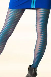 Bootights Boot All In 1 Tights Fusion Ankle Sock Zig Zag Green Blue S M L XL New