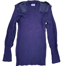 Royal Navy Pullover Jumper Round Neck Dark Blue Military