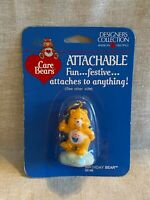 1985 Vintage Care Bears BIRTHDAY BEAR Attachable Zipper Pull Key Ring Figure New