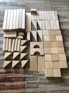 Maple Wooden Building Blocks Builder - 70 Pieces