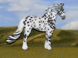 OOAK Breyer cm Custom Friesian Horse mini x D. Williams *  Leopard Appy*
