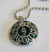 Green Tara Sterling Silver Mantra Pendant  FREE DOMESTIC SHIPPING