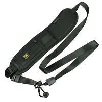 DSLR SLR Rapid Camera Neck Strap Shoulder Belt Sling for Sony Canon Nikon Black