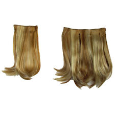 Hair Extensions Clip In 2 Piece POP Straight Glazed Apricot Beauty Fashion 16""