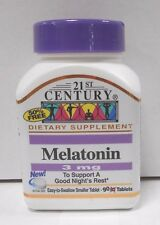 21st Century Melatonin 3mg 90ct Tablets -Expiration Date 02-2021