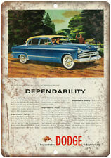 "Dodge V8 1950s Vintage Car Ad 10"" x 7"" Reproduction Metal Sign A245"