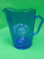 """Vintage Cobalt Blue Shirley Temple 4.5"""" Creamer/Pitcher"""