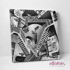 MC ESCHER - Relatività - Stampa FINE ART su tela CANVAS - Quadro Moderno Arredo