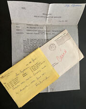 1950 USA Embassy Cairo Egypt Diplomatic Pouch Cover to Washington DC W Letter