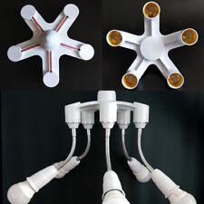 5 In 1 Adjustable E27 Base Socket Splitter LED Light Lamp Bulb Adapter Holder