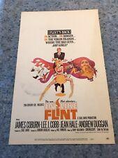 "In Like Flint 1967 Original Window Card Movie Poster 14"" x 22"" James Coburn G/VG"