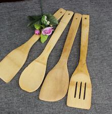 Set of 4 Natural Bamboo Cooking Scraper Sets Spatula Kitchen Tools Healthy handy
