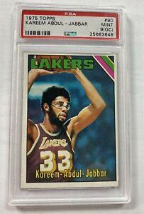 1975 Topps Kareem Abdul - Jabbar card #90 PSA 9 Pop 30 Lakers
