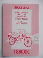 Suzuki Fahrerhandbuch TS50XK