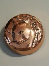 Copper Cat and Calla Lily Paperweight