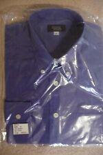"14"" button-down collar Mens long sleeve Blue shirt by Simon Jersey pocket NEW"