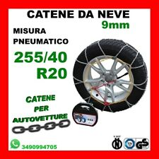 CATENE DA NEVE PER AUTO OMOLOGATE 9 MM MISURA PNEUMATICO 205//45 R17