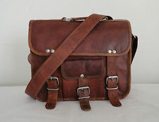 Vintage Leather Crossbody Bag Messenger Handbag Sling iPad/Tab Satchel 11 In