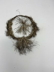 Victorian German Tinsel Feather Tree Ornament Floating Star With Tail