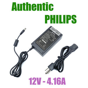 Genuine OEM Philips AC Power Adapter ADPC12416BB 12VDC 4.16A w/PC