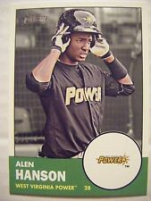 ALEN HANSON PIRATES 2012 Topps Heritage Minors baseball card #52 ROOKIE RC D.R.