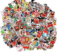 100pcs Random Music Film Vinyl Skateboard Guitar Travel Case Sticker Door Laptop