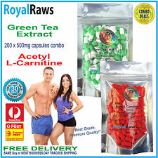 Acetyl Carnitine Green Tea Extract combo loss alcar burner supplement weight fat