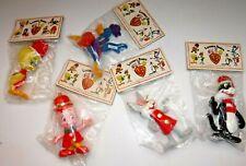 Lot of 5 Vintage 1977 Christmas Tree Ornaments Warner Bros Looney Tunes Sealed