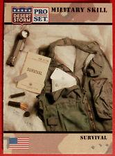 DESERT STORM - Card #174 - Military Skill: SURVIVAL - Pro-Set 1991