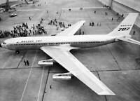 OLD AVIATION PHOTO Boeing 707 Headed for Paint Hangar