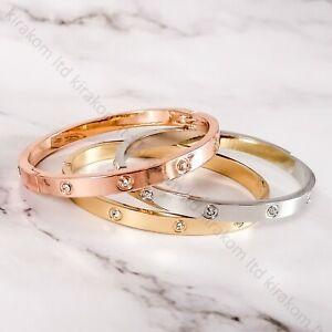 Luxury Metal Fashion Love Forever Bracelet Bangle Crystal Cuff Christmas Gift