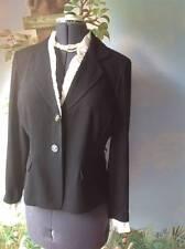 Danny & Nicole Women's Black Trimmed with White Blazer Suit Jacket SZ 14P