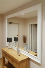 Extra Large White Modern Big Leaner Wall Mirror New 6Ft 9 X 4Ft 9 206cm X 145cm