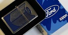 Zippo Lighter FORD Iconic Grill RARE DISCONTINUED 2005 Heavy Chrome Tin & Sleeve