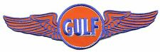 """8"""" Gulf Patch with wings Gas Station Motor Oil  Hot Rod sales service Flying"""