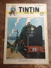 JOURNAL TINTIN Belge 9 (1946) couv Hergé RARE BD ancienne