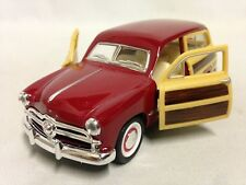 """1949 Ford Woody Wagon 5"""" Diecast Pull Back Action 1:40 Kinsmart Toy Red"""
