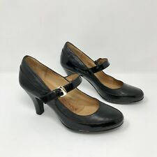 Sofft Black Patent Leather Mary Jane Pumps Size 6 1/2 M
