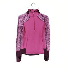 Ivivva by Lululemon Jacket Pink Girls 14 Long Sleeve 1/2 Zip Thumb holes