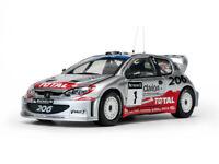 SUNSTAR 3854 PEUGEOT 206 WRC model rally car R Burns Reid GB Rally 2002 1:18th