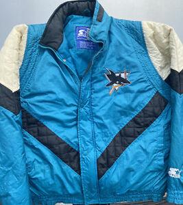 Vintage Starter San Jose Sharks Teal Parka Jacket Men's Medium